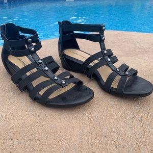Women Croft & Barrow with Ortholite Black Sandal